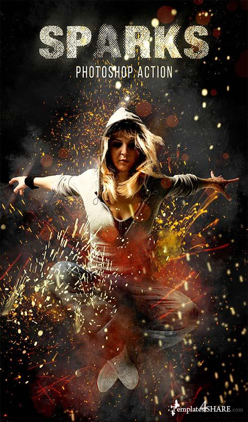 GraphicRiver Sparks Photoshop Action
