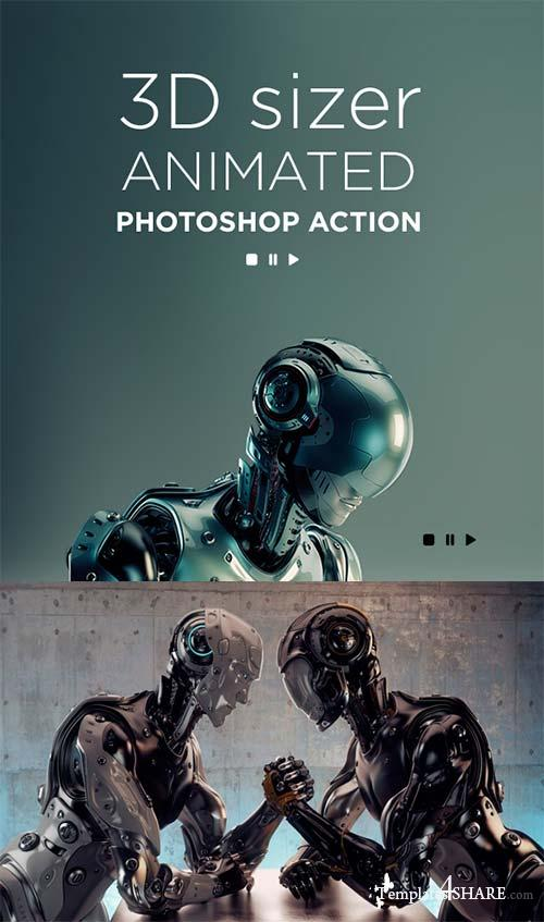 GraphicRiver 3D Sizer Animated Photoshop Action