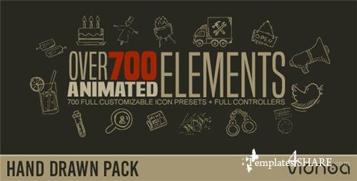 Hand Drawn Elements Pack - After Effects Presets (Videohive)