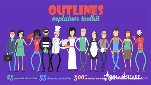 Outlines Explainer Toolkit - After Effects Project (Videohive)