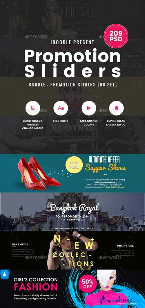 GraphicRiver Bundle Promotion Sliders - 164PSD [03 Sets]