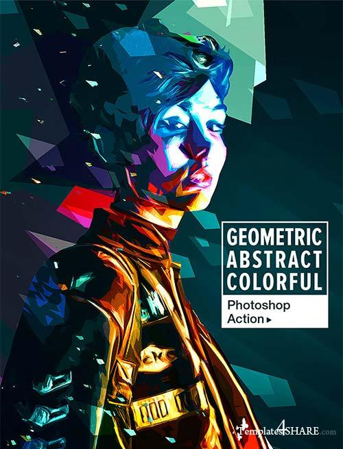 GraphicRiver Geometric Abstract Colorful Art - Photoshop Action
