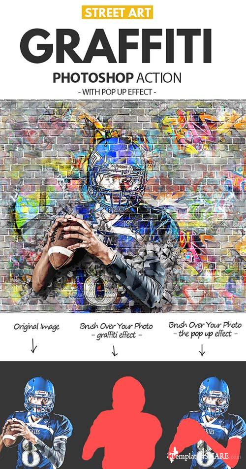 GraphicRiver Graffiti Effect with Pop Up Photoshop Action