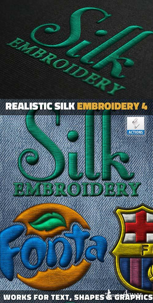 GraphicRiver Silk Embroidery Effect Photoshop Action