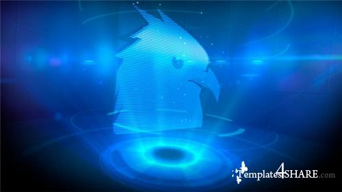 Logo Opener Holographic - After Effects Project (Videohive)