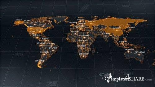 World Map 18811993 - After Effects Project (Videohive)