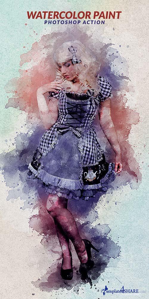 GraphicRiver Watercolor Paint Photoshop Action
