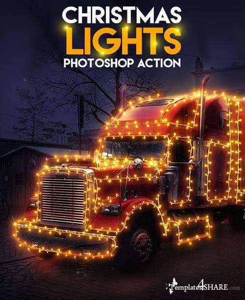 GraphicRiver Christmas Lights Photoshop Action