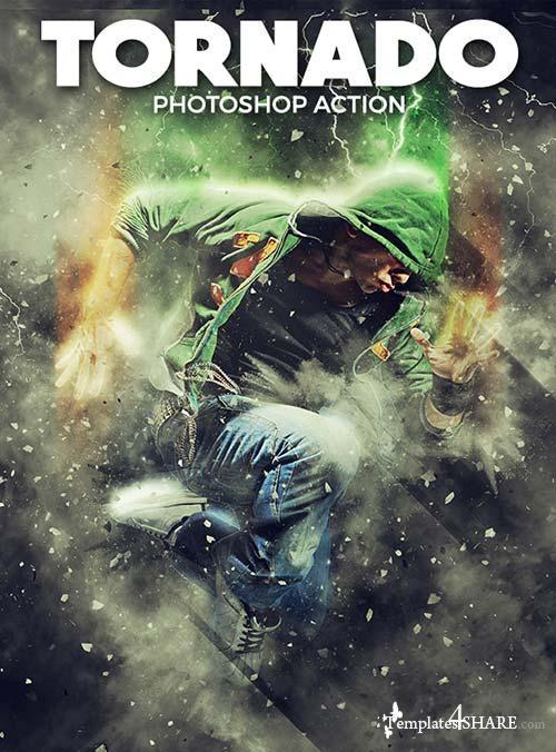 GraphicRiver Tornado Photoshop Action