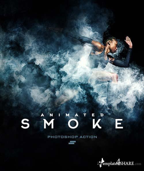 GraphicRiver Gif Animated Smoke Photoshop Action