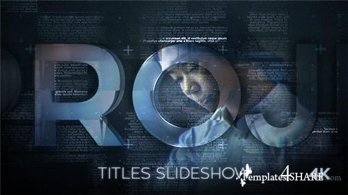 Titles Slideshow - After Effects Project (Videohive)