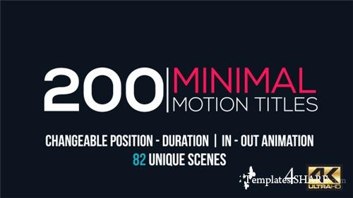 Minimal Motion Titles Pack - After Effects Project (Videohive)