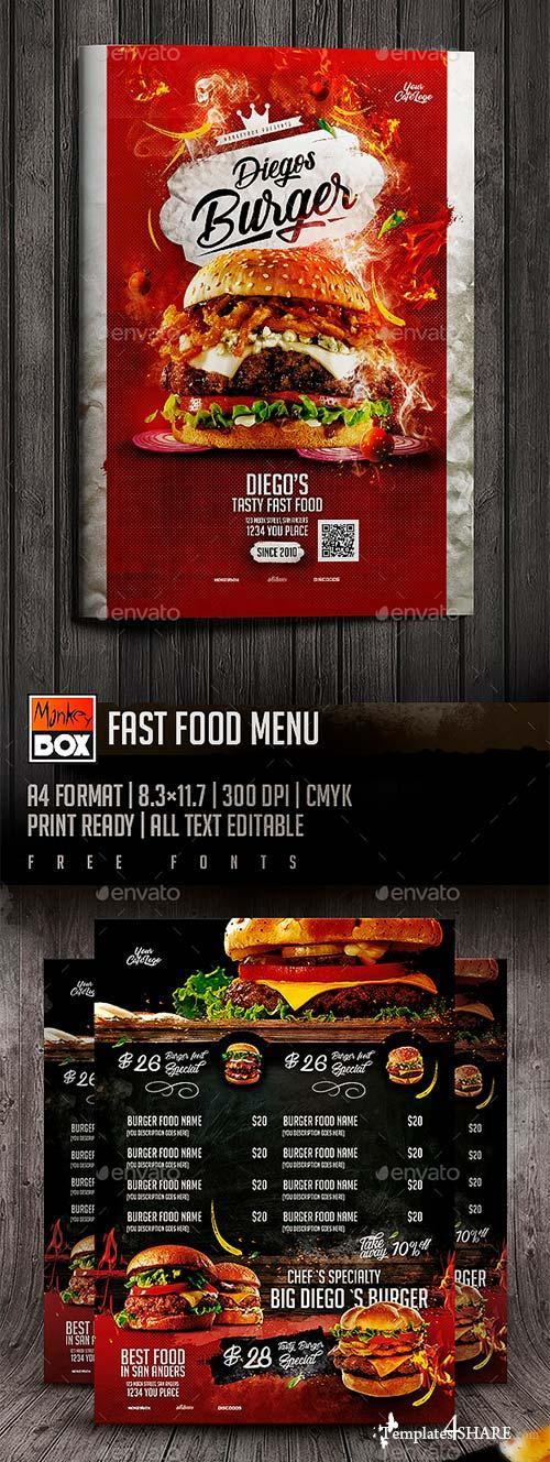 GraphicRiver Fast Food Menu