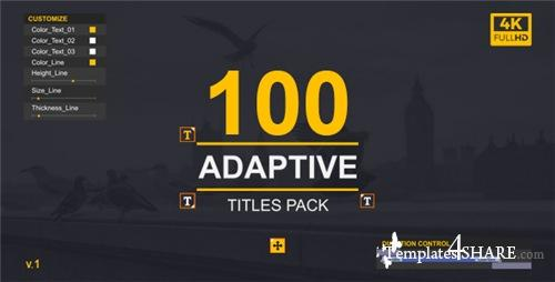 MoType | Adaptive Titles Pack - After Effects Project (Videohive)