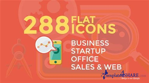 Business & Startup Flat Icons - After Effects Project (Videohive)