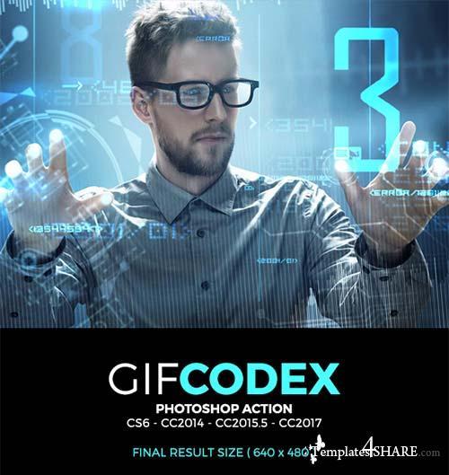GraphicRiver Gif Codex Photoshop Action