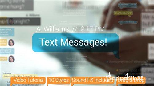 Text Messages - After Effects Project (Videohive)