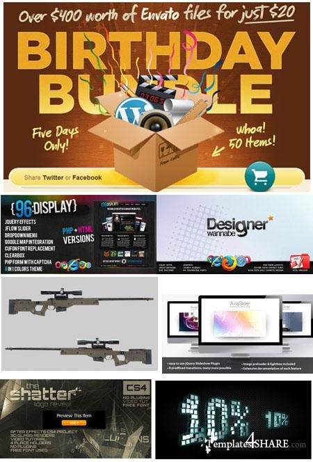 Envato Birthday Bundle 2010 (VideoHive, AudioJungle, FlashDen, GraphicRiver, ThemeForest)