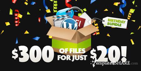 Envato Birthday Bundle 2009 (VideoHive, AudioJungle, FlashDen, GraphicRiver, ThemeForest)