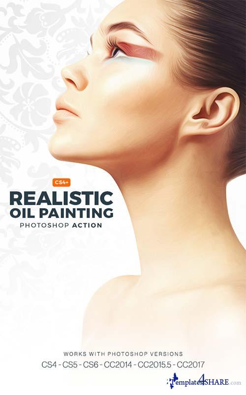 GraphicRiver Realistic Oil Painting Photoshop Action