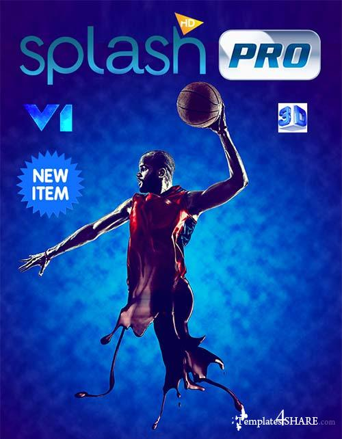 GraphicRiver 3D Splashes.Photoshop Action