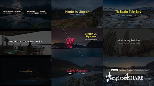 Creative Designer Titles - After Effects Project (Videohive)