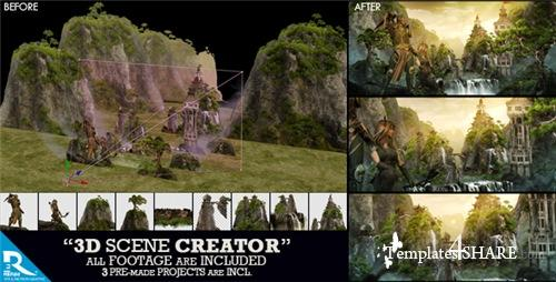 3D Scene Creator Kit - After Effects Project (Videohive)