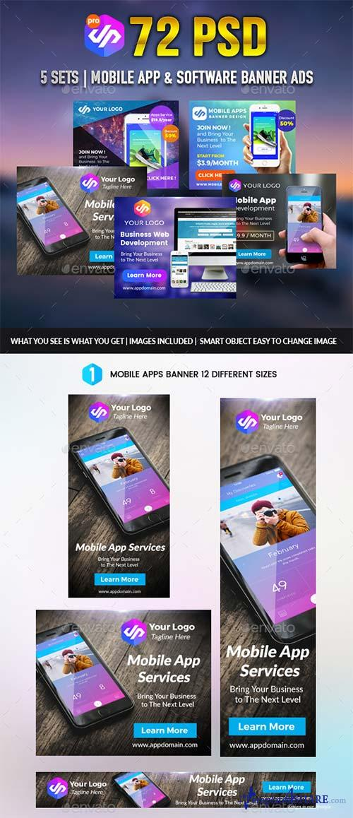 GraphicRiver Mobile Apps Banner Pack