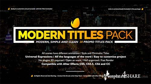 Modern Promo Titles Pack - After Effects Project (Videohive)