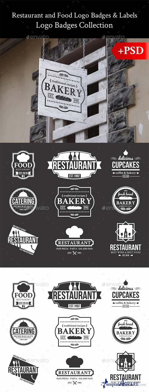 GraphicRiver Restaurant and Food Logo Badges & Labels