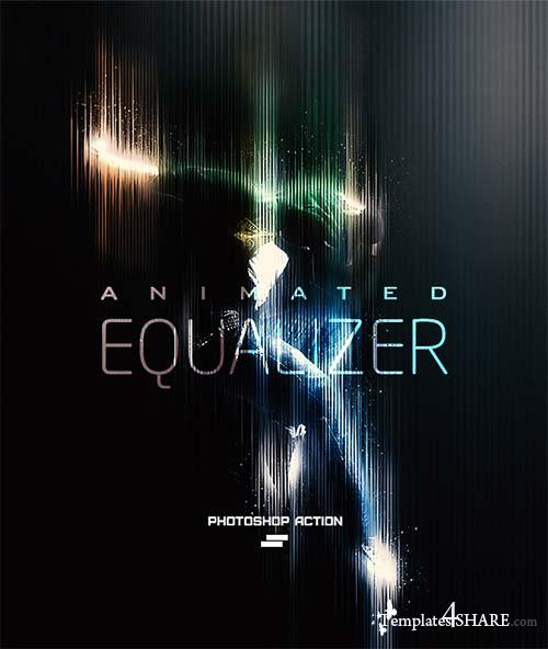 GraphicRiver Gif Animated Equaliser Photoshop Action