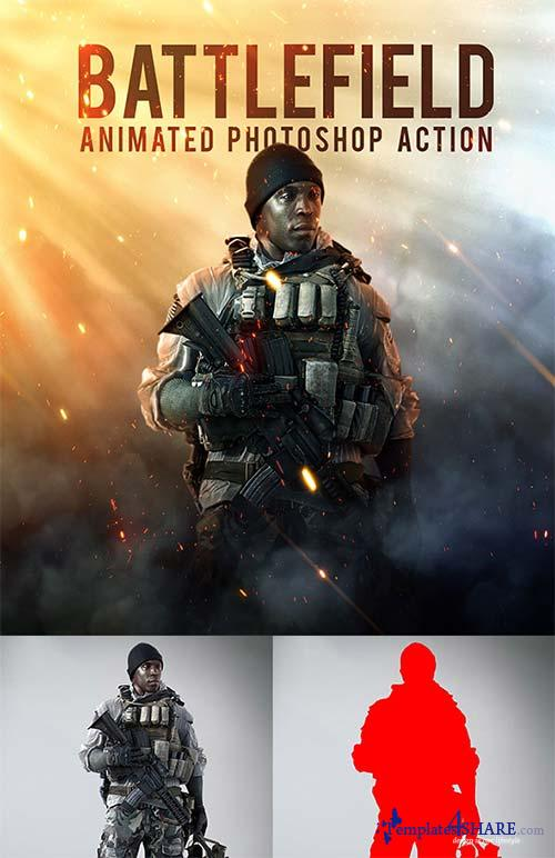 GraphicRiver Battlefield - Animated Photoshop Action