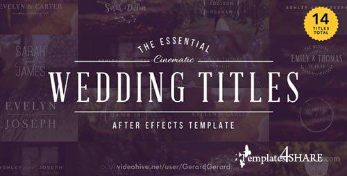 Wedding Titles 15927020 - After Effects Project (Videohive)