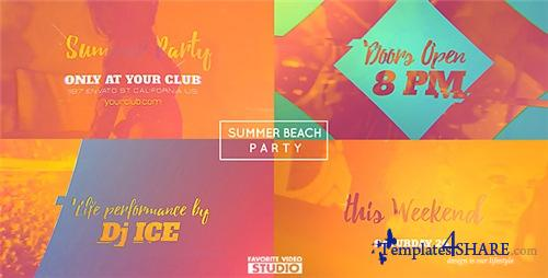 Summer Beach Party 16422111 - After Effects Project (Videohive)