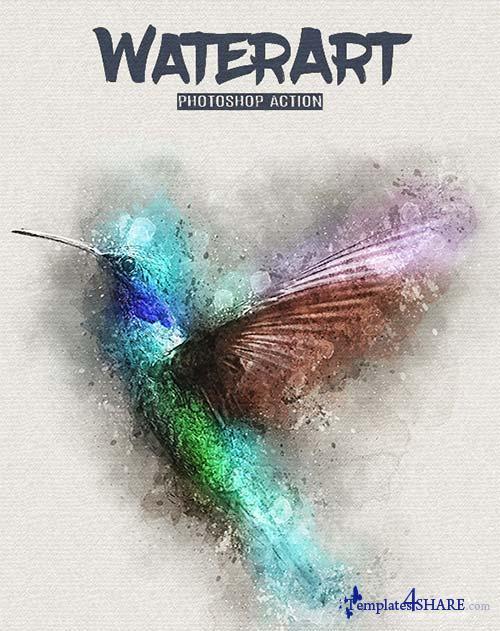 GraphicRiver WaterArt - Photoshop Action