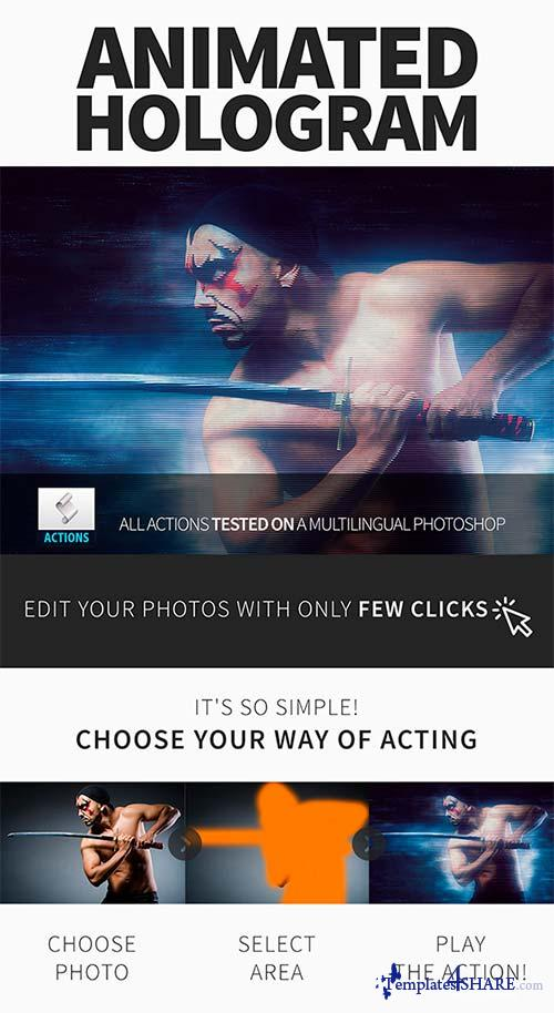 GraphicRiver Gif Animated Hologram Photoshop Action