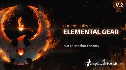 Particle Builder | Elemental Gear: Fire Sand Smoke Particular Presets - After Effects Project (Videohive)