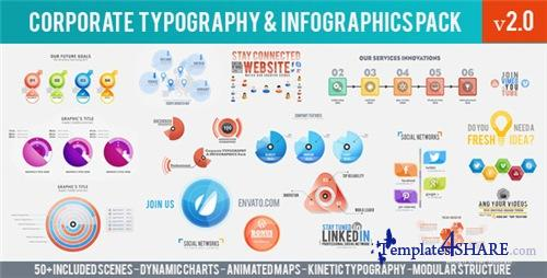 Corporate Typography & Infographics Pack - After Effects Project (Videohive)