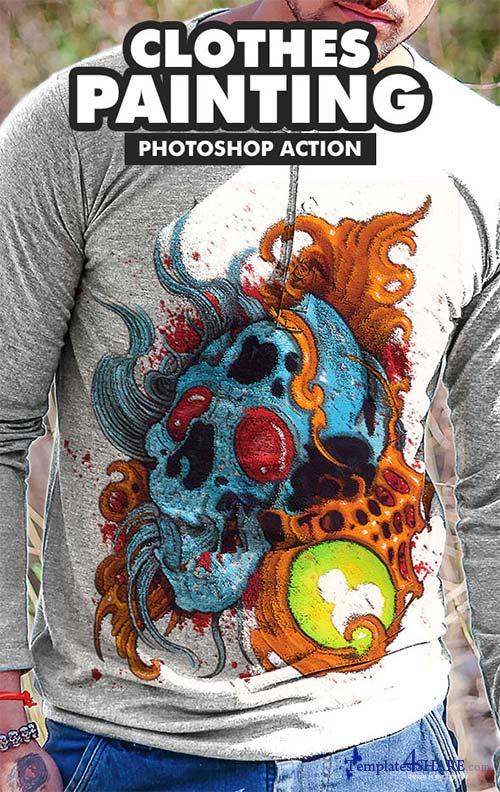 GraphicRiver Clothes Painting Photoshop Action