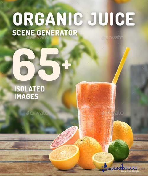 GraphicRiver Organic Juice Mockup & Hero Image Scene Generator