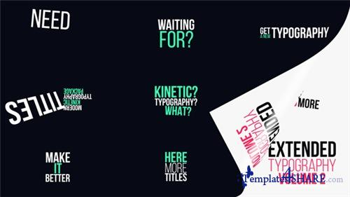 Extended Typography Vol.2 - After Effects Project (Videohive)
