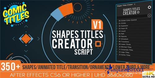 Shapes Titles Creator - After Effects Project (Videohive)