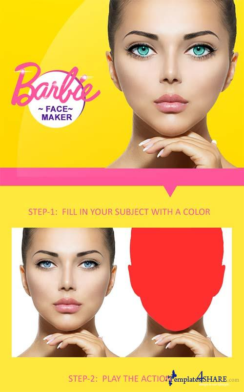 GraphicRiver Barbie Face Maker PS Action