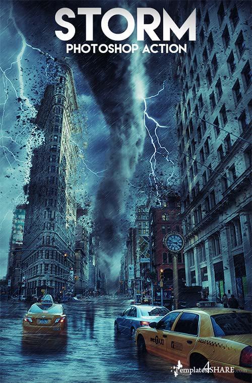 GraphicRiver Storm Photoshop Action 17838798