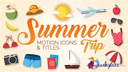 Summer Trip - Motion Icons & Titles - After Effects Project (Videohive)