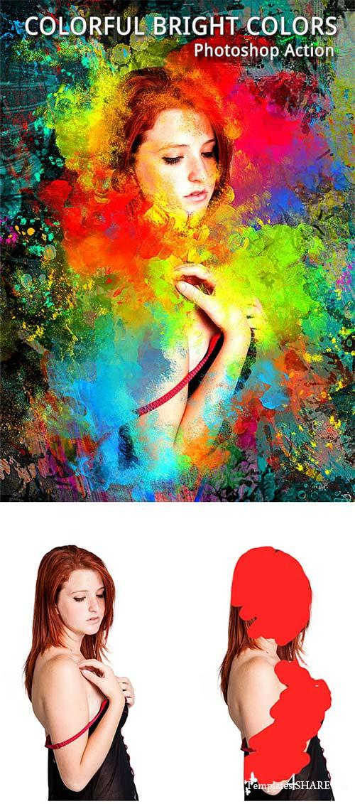 GraphicRiver Colorful Bright Colors Photoshop Action