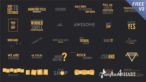 Texts Animation Bundle - After Effects Project (Videohive)