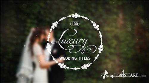 100 Luxury Wedding Titles - After Effects Project (Videohive)