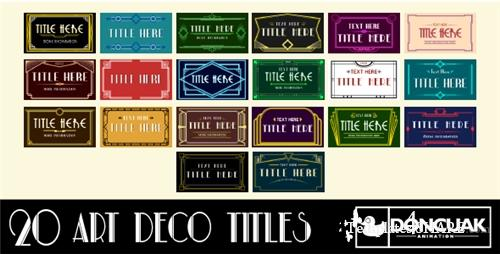 20 Art Deco Titles - After Effects Project (Videohive)