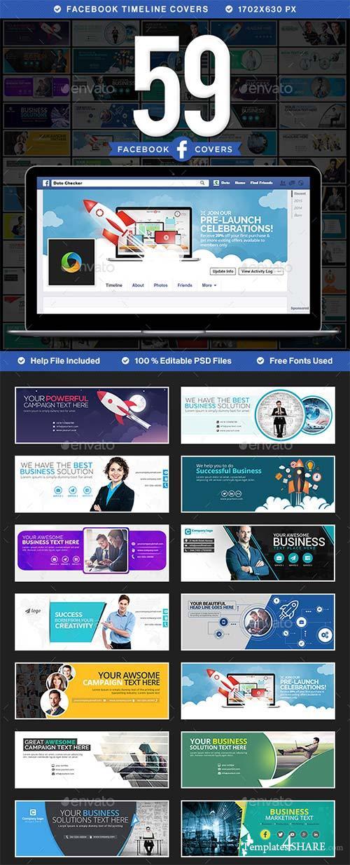 GraphicRiver Mega Facebook Timeline Covers Bundle - 59 Designs